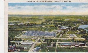 Wisconsin Janesville Air View Of Chevrolet Motor Co