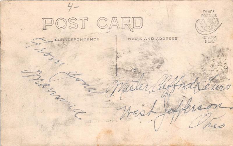 E60/ West Jefferson? Ohio Real Photo RPPC Postcard c1910 Family Home