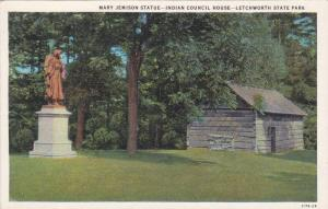 Mary Jemison Statue,  Indian Council House,  Letchworth State Park,  New York...