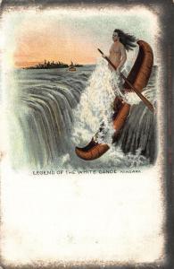 Legend of the White Canoe Niagara Postcard