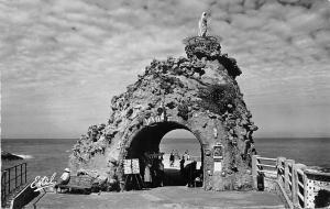 France Biarritz Le Rocher de la Vierge Statue