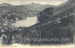 S Salvatore Swizerland, Schweiz, Svizzera, Suisse Lugano colla Ferrovia Funic...