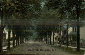 Ellenville NY Center St. c1910 Postcard