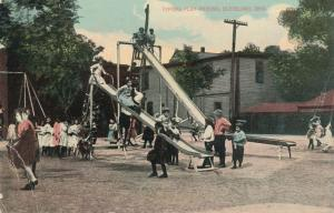 Children Playing - Typical Play Ground in Cleveland, Ohio - DB
