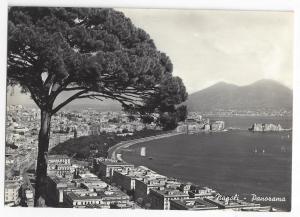 RPPC Napoli Italy Naples Panorama Real Photo Spinelli