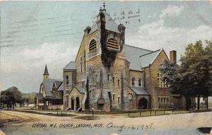 Lansing Michigan~Central Methodist Episcopal Church~Church Next Door~1908 Pc