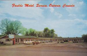 Faulds Motel , SARNIA , Ontario , Canada , PU-1962