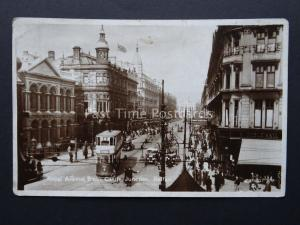 Ireland BELFAST Royal Avenue from Castle Junction - Old RP Postcard by Valentine