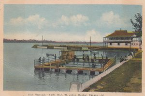 ST JOHNS , Quebec , Canada , 1910-30s , Club Nautique