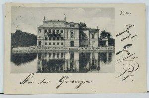 Poland Kalisz Teatr Theater 1902 to Berlin Picture Postcard L6
