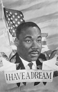 Blacks Post Card I Have a Dream Martin Luther King Jr. Unused