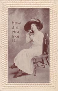 VALENTINE´S DAY, 1900-1910s; Woman Talking On A Phone, How Did You Like It