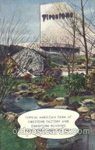Firestone Building 1939 New York USA, Worlds Fair Exposition, Postcard Post C...