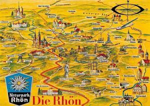 Naturpark Die Rhoen Stadtplan, Map Fulda, Rothemann, Steinau, Ebersburg