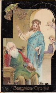 Christ Ringing Bell WHile Peter Sleeps - German Card