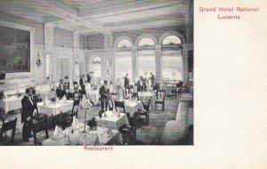 LUCERNE , Switzerland , 1900-10s ; Grand Hotel National , Restaurant