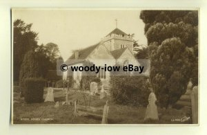 cu1797 - The Gothic St. Giles Church, Stoke Poges, in Hastings -  Postcard