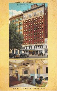 Savannah Georgia~Hotel Whitney Inside Out~Lobby Desk~Fans~1920s Cars~1935 PC