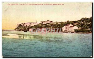Cannes - The Fort and Ile Ste Marguerite iron mask Prison - Old Postcard