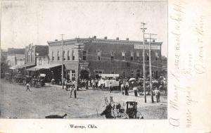 Watonga Oklahoma~Bank~Republican Headquarters~Gathering Outside~1907 B&W PC