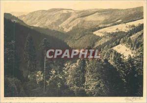 Modern Postcard Blick auf Triberg