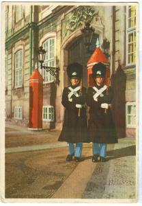 Denmark, Kobenhavn, Copenhagen, Amalienborg Palace, 1957 used Postcard