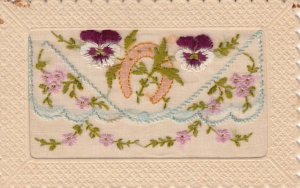 Embroidered 1914-18 ; Pansy Flowers