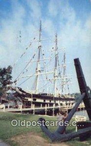 Waleship Charles W Morgan, Mystic Seaport, Mystic, Connecticut, CT USA Sail B...
