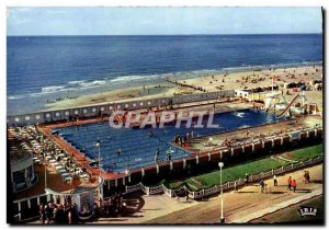 Modern Postcard Trouville Queen of Beaches and Swimming Pool Beach