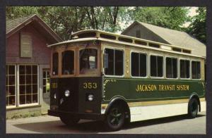 MI Jackson Trolley Car Transit System MICHIGAN POSTCARD PC