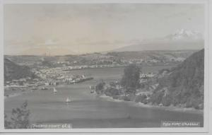 Puerto Montt Chile panoramic aerial view sailboats docks real photo pc Z24022