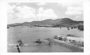 GUAM 1940s WWII Era RPPC Real Photo Postcard Mountain Scene