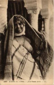CPA Scenes et Types. Jeune Femme arabe ETHNIC NUDE (574023)