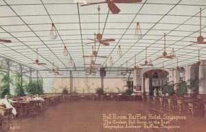 SINGAPORE, 1900-10s; Ball Room, Raffles Hotel