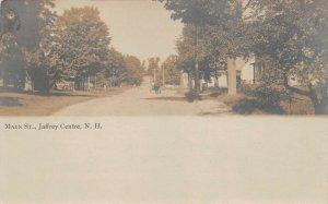 LPS74 Jaffrey Centre New Hampshire Main Street View Postcard RPPC
