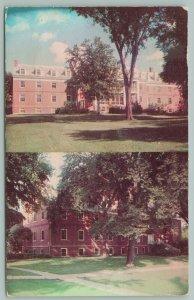 Mankato Minnesota~Mankato State~Residence Halls~Postcard~1956