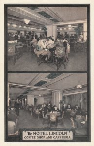 New York City , 1930s ; Hotel Lincoln Coffee Shop & Cafeteria