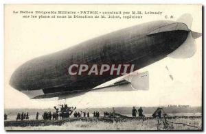 Postcard Old Airship Zeppelin Airship military Homeland