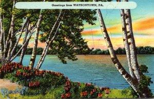 Pennsylvania Greetings From Watsontown 1952