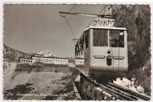 Incline Railroad Train Pilatusbahn Kulm Switzerland real photo RPPC postcard