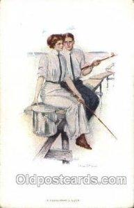 Artist Signed Clarence Underwood Nr. 860 d, M M.Munk, Wien Unused light corne...
