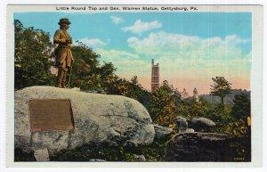 Gettysburg, Pa., Little Round Top and Gen. Warren Statue