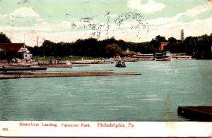 Pennsylvania Philadelphia Fairmount Park Steamboat Landing 1907
