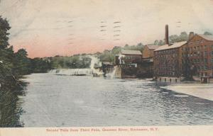 Genesee River Second Falls from the Third Falls Rochester New York pm 1907 - DB