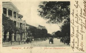 china, SHANGHAI, Bund with Shanghai-Club (1905) Max Nössler Postcard
