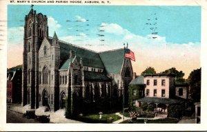 New York Auburn St Mary's Church and Parish House 1928