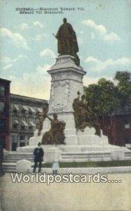 Monument Edward VII Montreal Canada Unused
