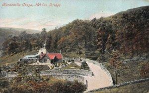 Hardcastle Crags, Hebden Bridge, England, Great Britain, early postcard, unused