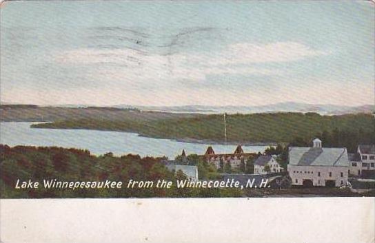 New Hampshire Winnecoette Lake Winnepesaukee From The Winnecoette 1915