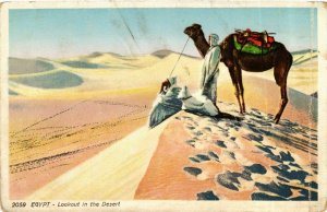 CPA Lehnert & Landrock 2059 Lookout in the Desert EGYPT (917093)